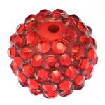 Beads diamant i rremë Rrëshirë, Rrëshirë diamant i rremë, Daulle, asnjë, i kuq, 16x18mm, : 2.5mm, 100PC/Qese,  Qese