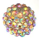 Beads diamant i rremë Rrëshirë, Rrëshirë diamant i rremë, Daulle, asnjë, me diamant i rremë, 16x18mm, : 3mm, 100PC/Qese,  Qese