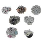 Shikojnë unazë gishti, Alloy zink, 20-30x26-31x8.5-9.5mm, 15mm, :5, 10PC/Shumë,  Shumë