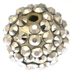 Beads diamant i rremë Rrëshirë, Rrëshirë diamant i rremë, Daulle, asnjë, 16x18mm, : 4mm, 100PC/Qese,  Qese