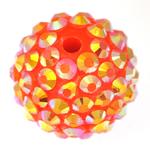 Beads diamant i rremë Rrëshirë, Rrëshirë diamant i rremë, Daulle, asnjë, portokall, 16x18mm, : 2.5mm, 100PC/Qese,  Qese