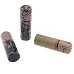 Beads rodoniti, Tub, natyror, 17x60x17mm, 5PC/Qese,  Qese