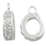 925 Sterling Silver varëse dorëzani, Shape Tjera, argjend praruar vërtetë, me zirconia kub, asnjë, 3x9.50x8mm, : 1.8mm, 20PC/Shumë,  Shumë