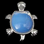 Deti Pendants opal, Deti Opal, with Tunxh, Breshkë, 41x34x10mm, : 4x7mm, 10PC/Qese,  Qese