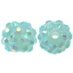 Beads diamant i rremë Rrëshirë, Rrëshirë diamant i rremë, Daulle, asnjë, 10x12mm, : 2mm, 100PC/Qese,  Qese