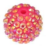 Harz Strass Perlen, Trommel, Rosa, 18x20mm, Bohrung:ca. 3mm, 100PCs/Tasche, verkauft von Tasche