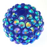 Beads diamant i rremë Rrëshirë, Rrëshirë diamant i rremë, Daulle, asnjë, blu, 18x20mm, : 3mm, 100PC/Qese,  Qese