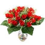 Lule artificiale Kryesore Dekor, Plastik, i kuq, 500x480mm, 10PC/Qese,  Qese