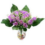 Lule artificiale Kryesore Dekor, Plastik, vjollcë, 500x480mm, 10PC/Qese,  Qese
