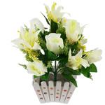 Lule artificiale Kryesore Dekor, Mëndafsh, Shape Tjera, 400x380mm, 10PC/Qese,  Qese