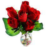 Lule artificiale Kryesore Dekor, Mëndafsh, Shape Tjera, i kuq, 550x350mm, 10PC/Qese,  Qese
