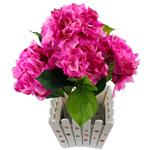 Lule artificiale Kryesore Dekor, Mëndafsh, Shape Tjera, Pink fuchsia, 440x400mm, 10PC/Qese,  Qese