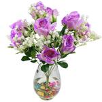Lule artificiale Kryesore Dekor, Plastik, vjollcë, 490x330mm, 10PC/Qese,  Qese