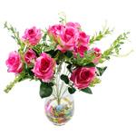 Lule artificiale Kryesore Dekor, Mëndafsh, Shape Tjera, rozë, 550x330mm, 10PC/Qese,  Qese
