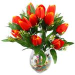 Lule artificiale Kryesore Dekor, Mëndafsh, Shape Tjera, portokall, 480x370mm, 10PC/Qese,  Qese