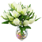 Lule artificiale Kryesore Dekor, Mëndafsh, Shape Tjera, e bardhë, 480x370mm, 10PC/Qese,  Qese