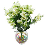 Lule artificiale Kryesore Dekor, Mëndafsh, Shape Tjera, e bardhë, 490x300mm, 10PC/Qese,  Qese