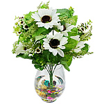 Lule artificiale Kryesore Dekor, Mëndafsh, Shape Tjera, e bardhë, 450x310mm, 10PC/Qese,  Qese