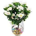 Lule artificiale Kryesore Dekor, Mëndafsh, Shape Tjera, e bardhë, 380x300mm, 10PC/Qese,  Qese