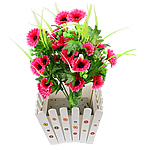 Lule artificiale Kryesore Dekor, Mëndafsh, Shape Tjera, rozë, 500x300mm, 10PC/Qese,  Qese