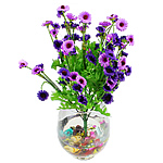 Lule artificiale Kryesore Dekor, Mëndafsh, Shape Tjera, vjollcë, 440x240mm, 10PC/Qese,  Qese