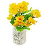 Lule artificiale Kryesore Dekor, Mëndafsh, Shape Tjera, i verdhë, 330x200mm, 10PC/Qese,  Qese