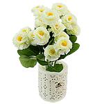 Lule artificiale Kryesore Dekor, Mëndafsh, Shape Tjera, e bardhë, 330x170mm, 10PC/Qese,  Qese