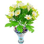 Lule artificiale Kryesore Dekor, Mëndafsh, Shape Tjera, dritë bathë jeshile, 290x240mm, 10PC/Qese,  Qese