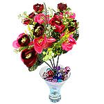 Lule artificiale Kryesore Dekor, Mëndafsh, Shape Tjera, 330x260mm, 10PC/Qese,  Qese