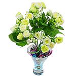 Lule artificiale Kryesore Dekor, Mëndafsh, Shape Tjera, krem të verdhë, 290x180mm, 10PC/Qese,  Qese