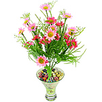 Lule artificiale Kryesore Dekor, Mëndafsh, Shape Tjera, 330x180mm, 10PC/Qese,  Qese