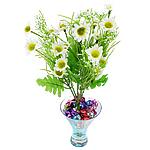 Lule artificiale Kryesore Dekor, Mëndafsh, Shape Tjera, e bardhë, 330x180mm, 10PC/Qese,  Qese