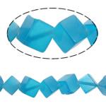 Cats Eye Perlen Schmuck, Katzenauge, Würfel, blau, 11x12mm, Bohrung:ca. 1.5mm, ca. 32PCs/Strang, verkauft per ca. 15.3 ZollInch Strang