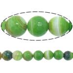 Beads Dashuri Green agat, Jeshile agat, Round, asnjë, makinë faceted & shirit, 12mm, : 2mm, :15Inç, 5Fillesat/Shumë,  Shumë