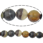 Agat Beads, dantella agat, Round, shirit, 8mm, : 2mm, :15Inç, 5Fillesat/Shumë,  Shumë