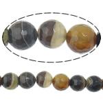 Agat Beads, dantella agat, Round, shirit, 14mm, : 2mm, :15Inç, 5Fillesat/Shumë,  Shumë