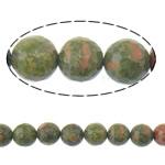 Beads Unakite, Round, 8mm, : 1mm, :15Inç, 10Fillesat/Shumë,  Shumë