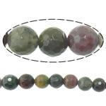 Manik-manik batu akik India alami, Putaran, tidak ada, Mesin segi, 10mm, : 1.5mm, :15Inci, 10Helai/Banyak,  Banyak