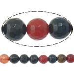 Agat Beads, Agat përziera, Round, i lyer, asnjë, 10mm, : 2mm, :15Inç, 5Fillesat/Shumë,  Shumë