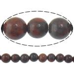Jasper Brecciated Beads, Round, natyror, 10mm, : 1mm, :15.8Inç, 10Fillesat/Shumë,  Shumë
