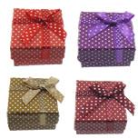 Box karton Ring, Letër, Drejtkëndësh, i përzier, ngjyra të përziera, 51x50x31mm, 120PC/Shumë,  Shumë