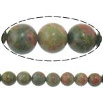Beads Unakite, Round, i importuar, 10mm, : 1.5mm, :16Inç, 10Fillesat/Shumë,  Shumë
