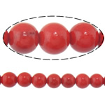 Beads Round Crystal, Kristal, Siam, 12mm, : 1.5mm, :15Inç, 10Fillesat/Shumë,  Shumë