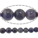 Beads kuarc bizhuteri, Ametist, Round, asnjë, 8mm, : 1.5mm, :15.5Inç, 5Fillesat/Shumë,  Shumë