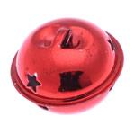Hekuri Pendants Bell, pikturë, i kuq, , nikel çojë \x26amp; kadmium falas, 28x35mm, : 6x3mm, 100PC/Qese,  Qese