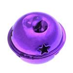 Hekuri Pendants Bell, pikturë, vjollcë, , nikel çojë \x26amp; kadmium falas, 25x32mm, : 7x3.5mm, 100PC/Qese,  Qese