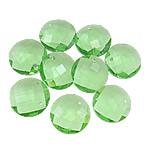 Crystal Pendants, Kristal, Round Flat, Peridot, 18x7mm, : 1.5mm, 10PC/Qese,  Qese