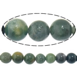Achat Perlen, Moos Achat, rund, 10mm, Bohrung:ca. 1mm, Länge:ca. 15.5 ZollInch, 10SträngeStrang/Menge, ca. 39PCs/Strang, verkauft von Menge