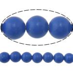 Synthetischer Lapislazuli Perlen, rund, blau, 6mm, Bohrung:ca. 0.8mm, Länge:ca. 15 ZollInch, 10SträngeStrang/Menge, ca. 60PCs/Strang, verkauft von Menge