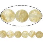 Beads Stone Kafe, Round, 16mm, : 1.2mm, :15.5Inç, 5Fillesat/Shumë,  Shumë